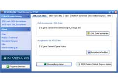 Screenshot vom Programm: E-Mail Converter