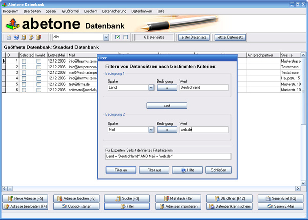 Click to view Abetone-Datenbank screenshots