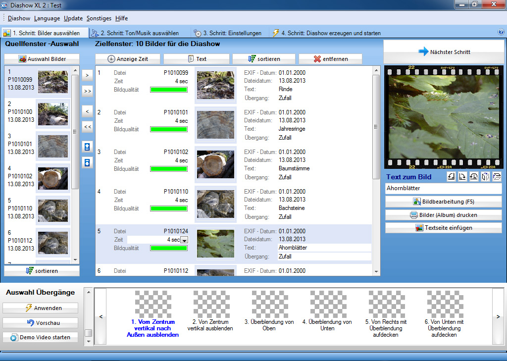 Crea sorprendenti slideshow per PC, DVD, TV solo in 4 Passi con Slideshow XL