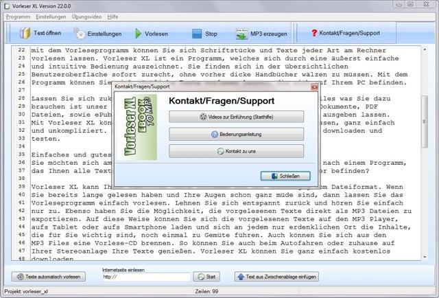 texte vorlesen lassen freeware