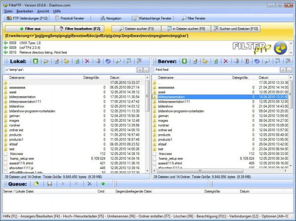 Screenshot of FilterFTP pro 2.1.4