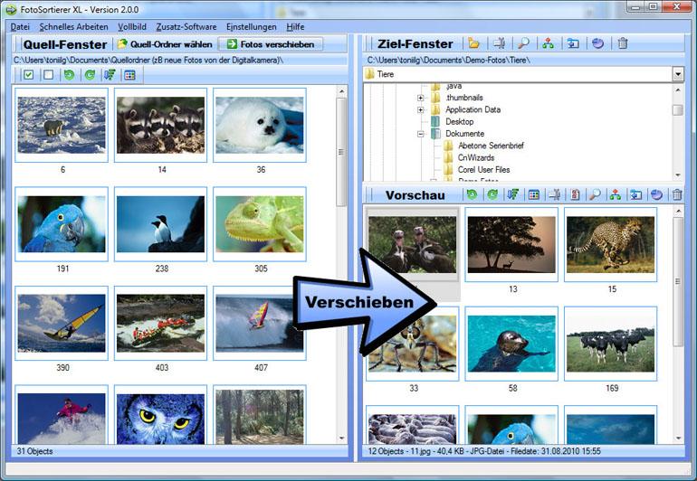 FotoSortierer XL screenshot
