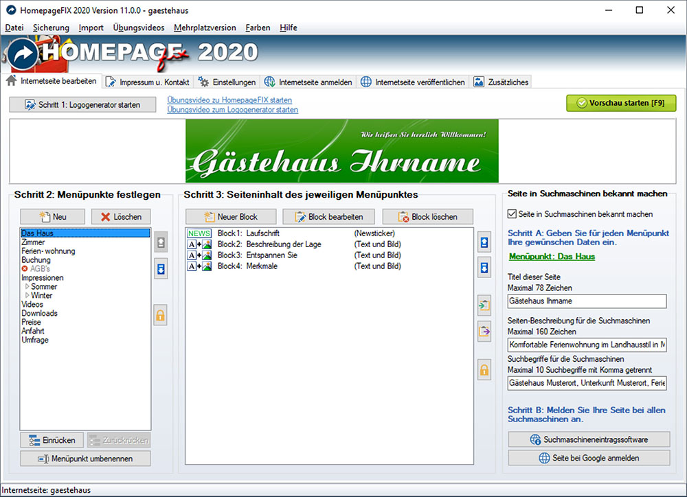 HomepageFIX 2012 Screenshot
